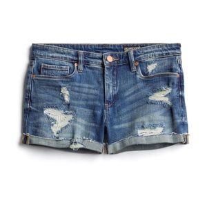 Amira Distressed Denim Shorts